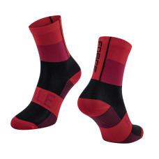 Čarape FORCE HALE, crno-crvene L-XL/42-47