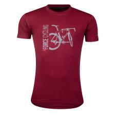 Majica FORCE FLOW kratki rukav, crvena L.