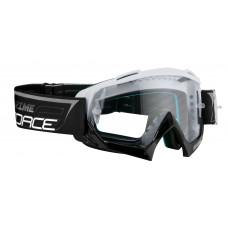 Naočare F GRIME downhill belo-crne,providna stakla